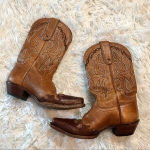 Tony Lama Cowboy western boots size 6 leather